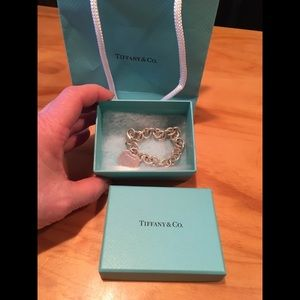 Tiffany & Co Sterlin Silver Heart Bracelet,Box,Bag